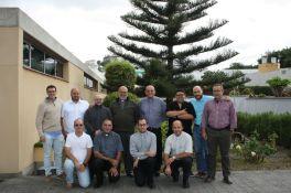 Comunidad del Seminario Mayor junto al Rector del Seminario de Tenerife