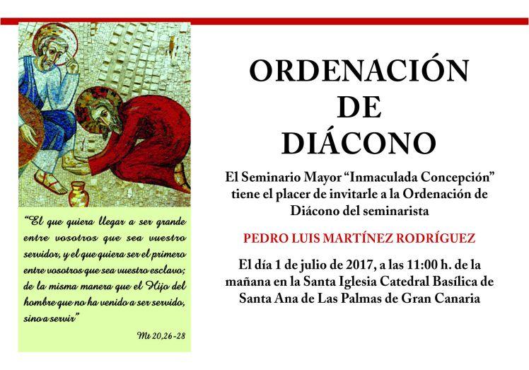 Tarjeta de ordenación Pedro